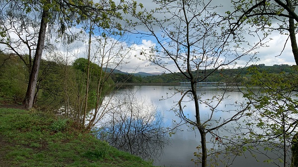 A photograph of the Toddbrook reservoir prior to the summer 2019 rainfall event. Photo credit: David Lee.