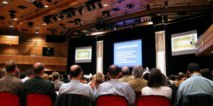 A photograph of participants at the 2014 FCERM.net Annual Assembly, Edinburgh, Scotland.