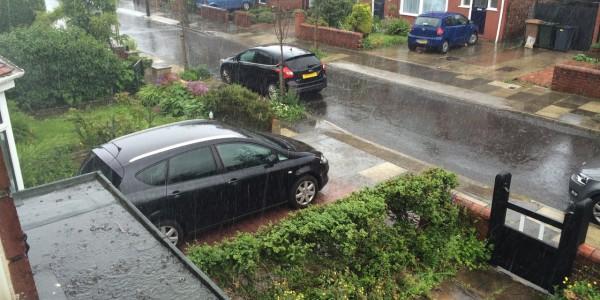 Summer rainfall in Newcastle (photo credits: L. McGinty)