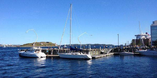 A photograph of Halifax harbour, Nova Scotia, Canada