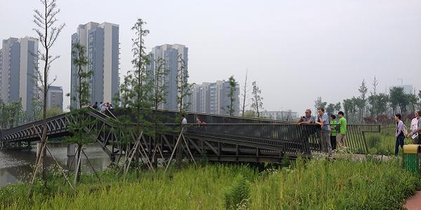 A photograph of Ningbo eco corridor