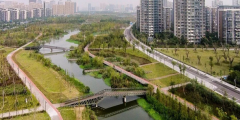 Photograph of the Eco-corridor in Ningbo New East town (source: Ningbo Municipal Government, 2018)