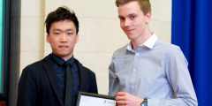 Alan Chan receives his Nottingham Advantage Award prize
