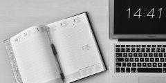 Unfold Book Beside Macbook