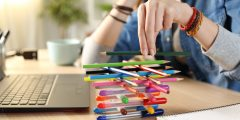 Stacking pens and delaying time on tasks they should be doing