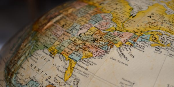 Close-up of World Map