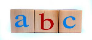 Blocks showing ABC