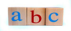 Blocks showing ABC