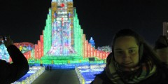 Peggy Hennery at Harbin Ice Festival
