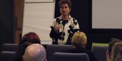Filmmaker Dr Ruth Beckerman participating in a QA at the conference