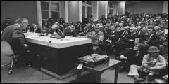 Roland Barthes, Lecon inaugurale au College de France (1977) (photograph by Jacques Pavlovsky/Sygma - Corbis)