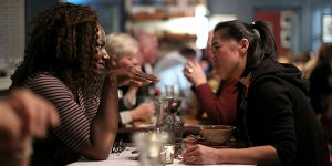 Image of Conversation Diners at the Being Human event.
