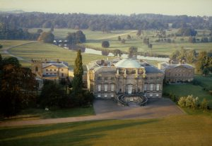 Kedleston Hall, Aerial view, (digitsied slide from the Humanities slide collection, DHC, UoN)