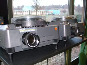 An image of dual slide projectors in History of Art's