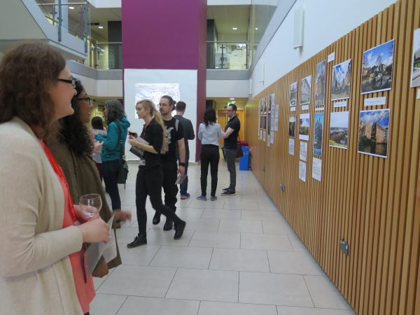 'Then and Now' private viewing in the Humanities Building Atrium.
