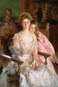 John Singer Sargent, Mrs. Fiske Warren (Gretchen Osgood) and Her Daughter Rachel, oil on canvas, 1903, Museum of Fine Arts Boston http://www.mfa.org/