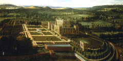 Oil painting of Wollaton Hall and Park, by Jan Siberechts, 1697