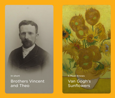 Screenshot from the Van Gogh Museum's collection