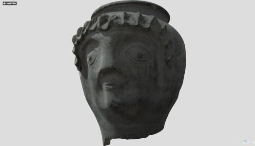 Screengrab of Roman Face Pot from sketchfab