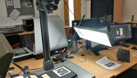 Workspace in DHC for digitisation project.