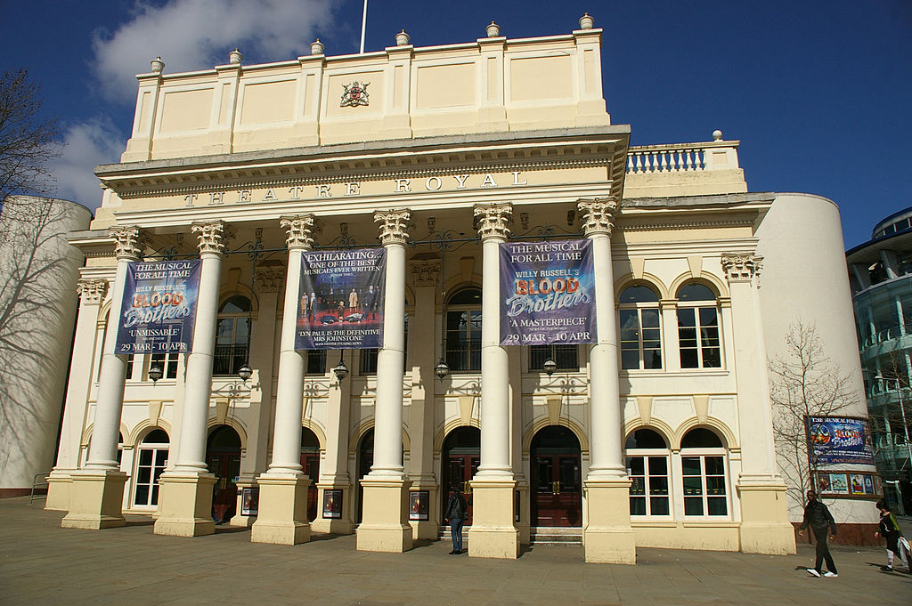 Image of the front of the Theatre Royal in Nottingham
