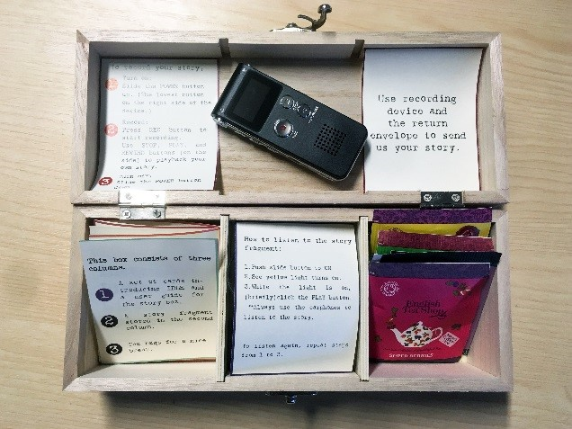 An open box with 6 compartments.