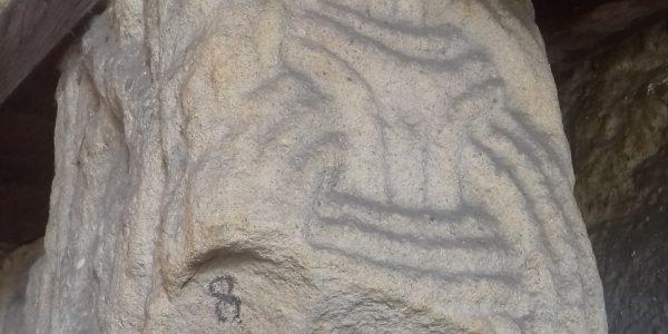 Borre style stone sculpture