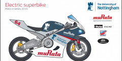 Bike with logos
