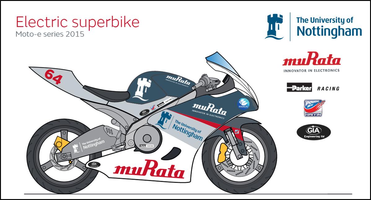 Bike with logos