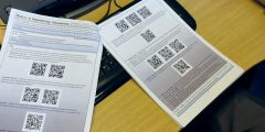 Document with QR codes