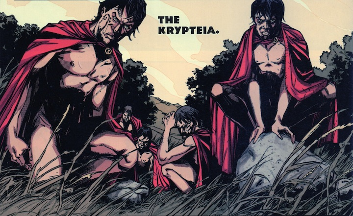 Our first glimpse of the krypteia