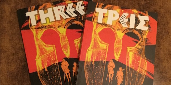 Graphic novel 'Three' in English and Greek