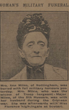 Ann Milne black and white photo in newspaper