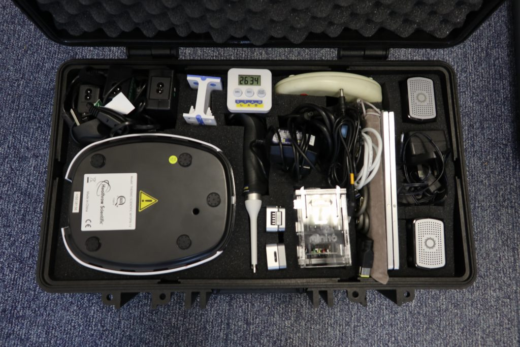A photograph of the equipment used for sequencing in the field