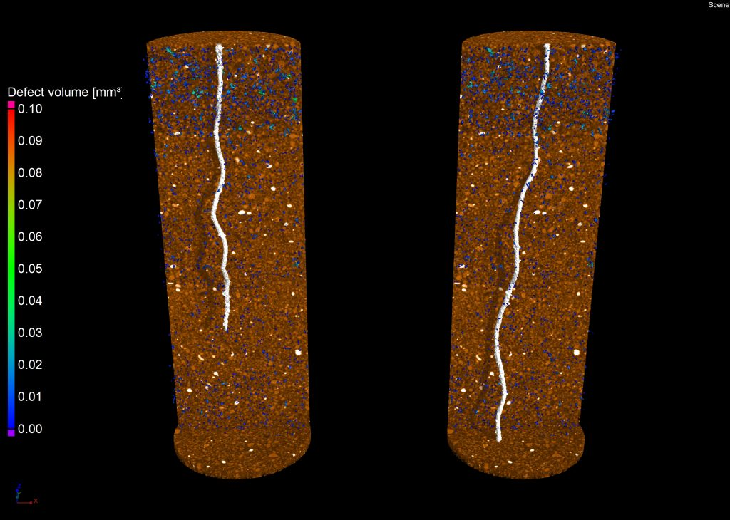 Image of roots growing in compacted soil 2