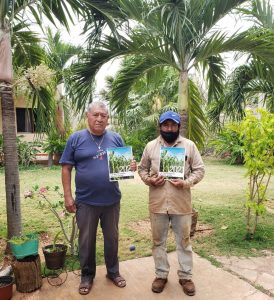 Isaias Pech (left) and Jose Concepcion Perera (right) Maya farmers from Maxcanu community and members of the community research team - by Karla G. Hernandez-Aguilar