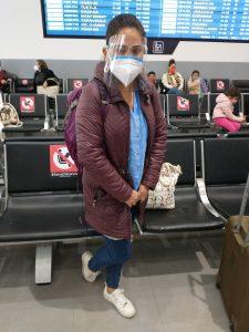 Karla at Mexico City airport