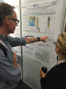 Photo 5. Kara Bogus presenting her poster on IODP work.