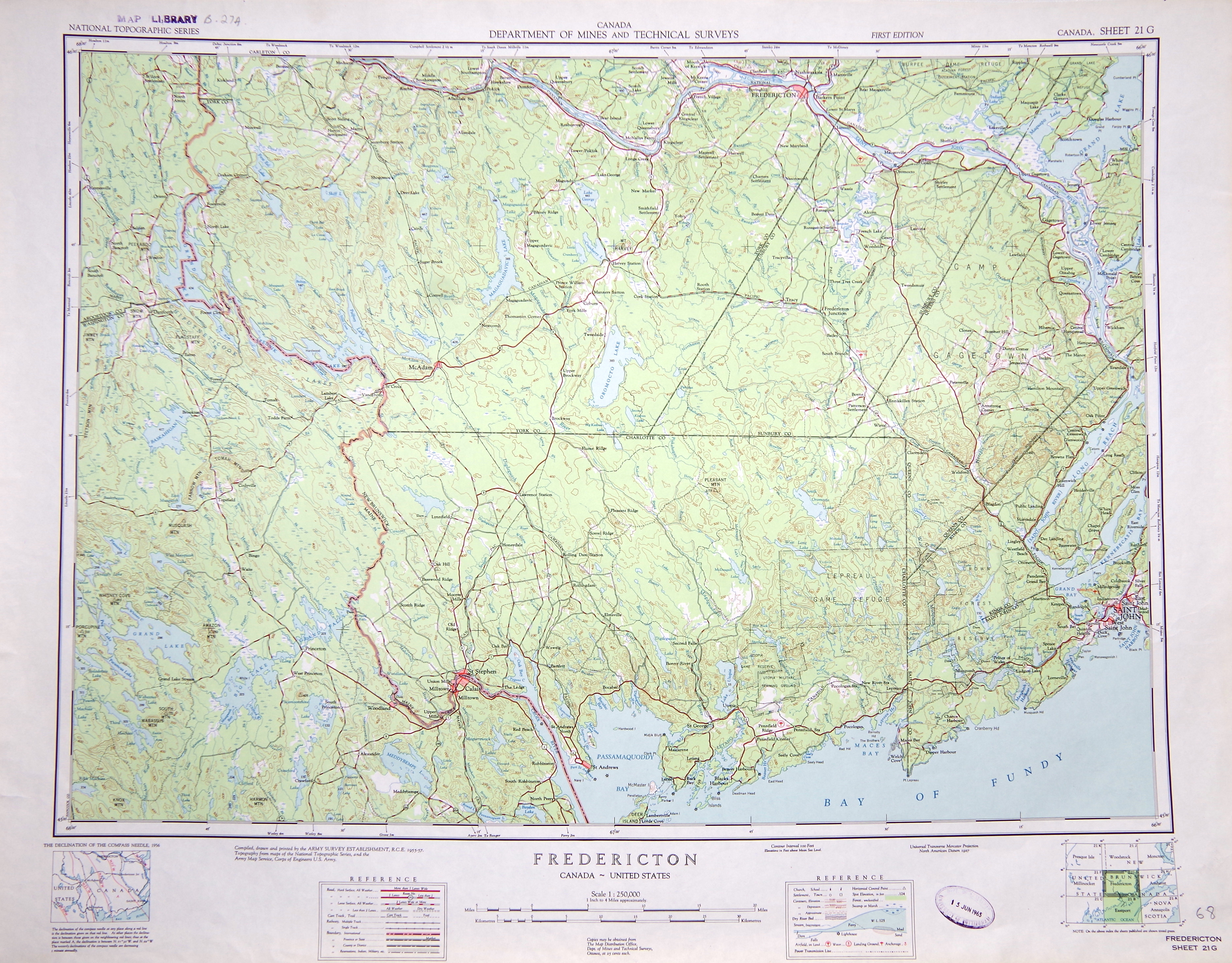 Map of the month. The Saint John River valley: memories of a ... St Johns River Map on