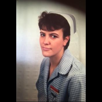 Dr Katharine Whittingham as a student nurse