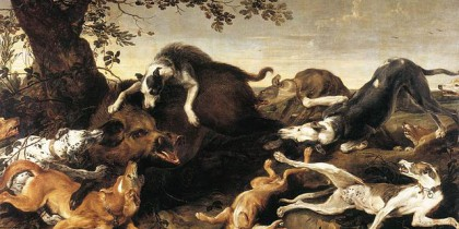 Frans Snyders, The Wild Boar Hunt (early 17th century)