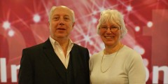 Professor Steve Diacon and Margaret Burrell