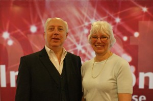 Professor Steve Diacon and Margaret Burrell