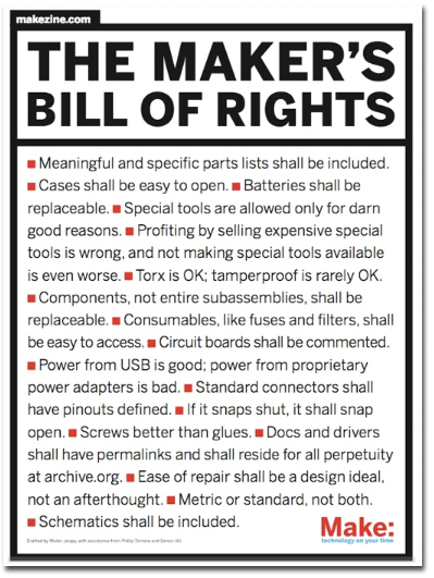 Makers Bill of Rights