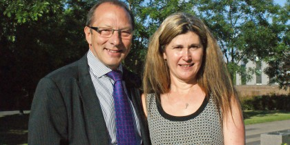 Peter Richardson and Karen Edmonds