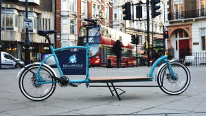 Porterlight Bicycles X Deliveroo, custom cargo bike, porterlight bicycles, cargo bike london, deliveroo bicycle, london bicycle, urban bicycle