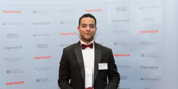 mitchell fasanya, fanbytes, ingenuity16, vice-chancellor's entrepreneurial potential award, vice-chancellor award ingenuity16, ingenuity16 winner