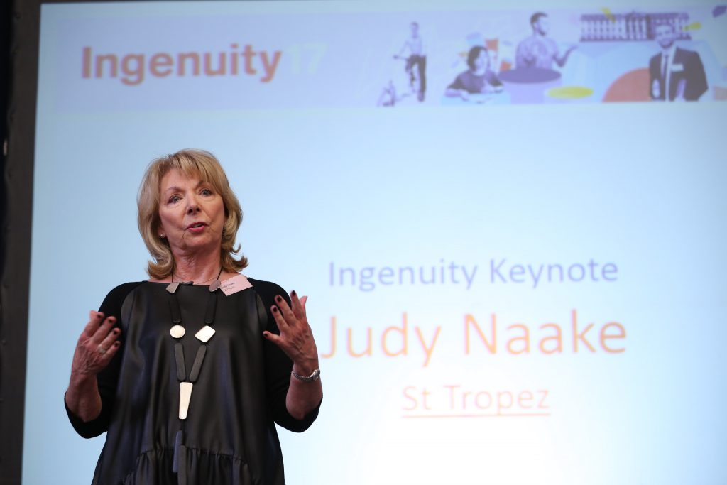 Judy Naake, St Tropez founder, Nottingham business woman, Ingenuity17, Ingenuity17 Conference