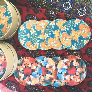 coasters, geometry, persian, art