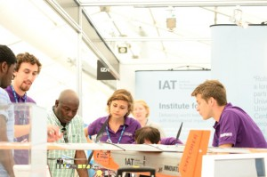 INNOVATE stand at the Farnborough air show 2014